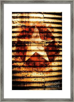 Rusty Military Star. Drums Of War Framed Print by Jorgo Photography - Wall Art Gallery