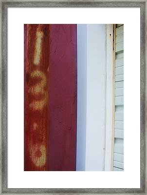 Rusty Numbers II Framed Print by Anna Villarreal Garbis
