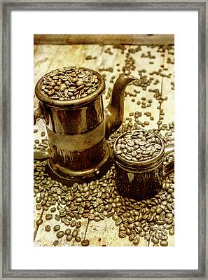 Rusty Old Cafe Still Life Artwork Framed Print by Jorgo Photography - Wall Art Gallery