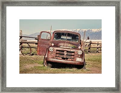 Framed Print featuring the photograph Rusty Old Dodge by Ely Arsha