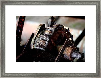 Rusty Old Farm Equipment 3 Framed Print