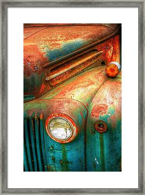 Rusty Old Ford Framed Print