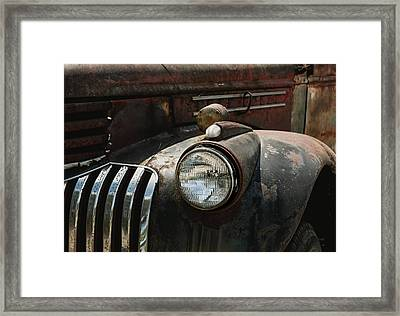 Framed Print featuring the photograph Rusty Old Headlight  by Kim Hojnacki