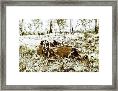 Rusty Old Holden Car Wreck  Framed Print