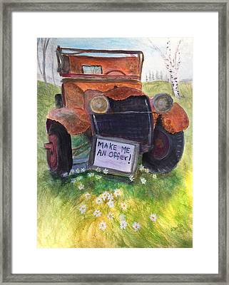 Rusty Old Relic Framed Print by Anne Sands