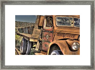 Rusty Old Truck Framed Print by Peter Schumacher