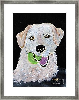Framed Print featuring the painting Rusty On Canvas by Janice Rae Pariza