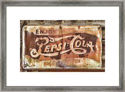 Rusty Pepsi Cola Framed Print