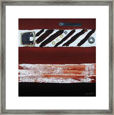 Rusty Pieces Framed Print by Marsha Heiken