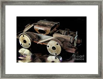 Rusty Rat Rod Toy Framed Print by Wilma Birdwell