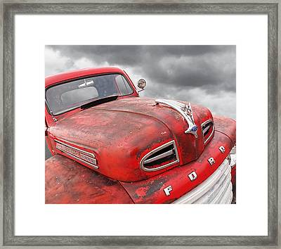Rusty Red 48 Ford V8 Framed Print by Gill Billington