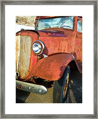 Rusty Red Chevrolet Pickup Truck 1934 Framed Print by Douglas Barnett