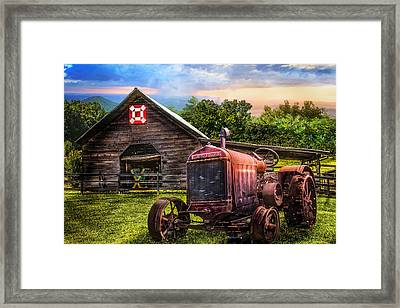 Rusty Red Framed Print by Debra and Dave Vanderlaan