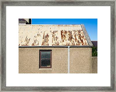 Rusty Roof Framed Print