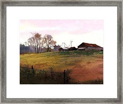 Rusty Roofs Framed Print