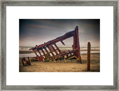 Rusty Shipwreck Framed Print by Garry Gay
