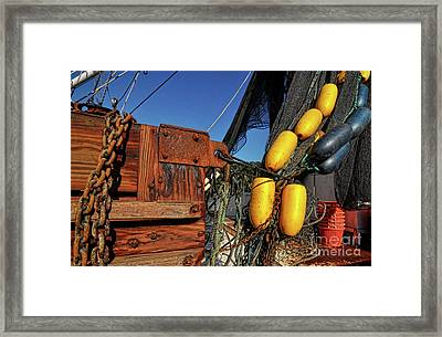 Rusty Shrimping Framed Print