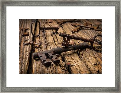 Rusty Skeleton Keys Framed Print