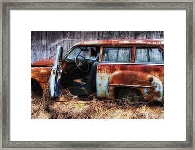 Rusty Station Wagon Framed Print