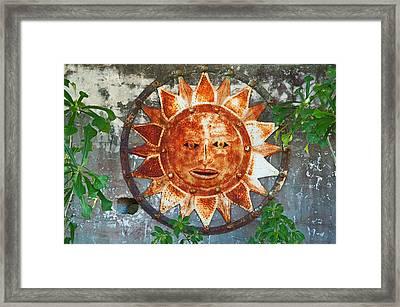Rusty Sun Framed Print