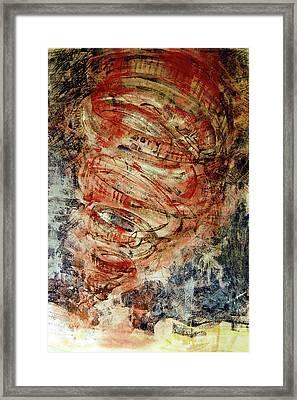 Rusty Tornado Framed Print by Jame Hayes