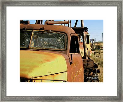 Rusty Tow Framed Print by Slade Roberts