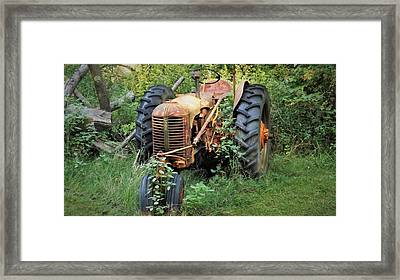 Rusty Tractor 3  Framed Print
