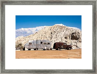 Rusty Truck And Aluminum Trailer Framed Print
