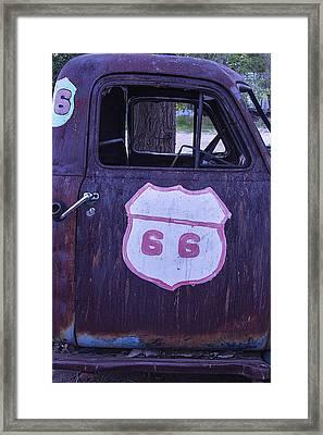 Rusty Truck Door Framed Print by Garry Gay