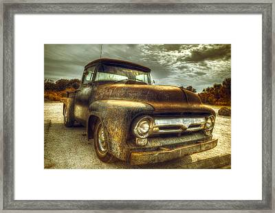 Rusty Truck Framed Print by Mal Bray