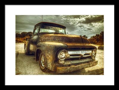 Old Pickup Truck Framed Prints