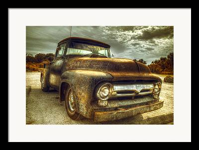 Rusty Trucks Framed Prints