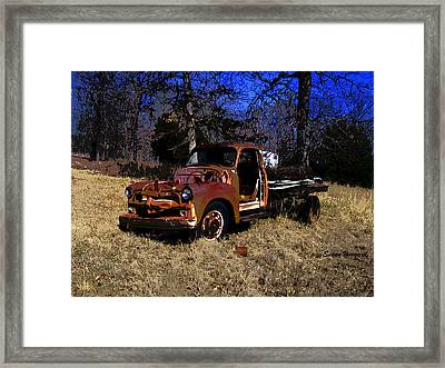 Rusty Truck Framed Print
