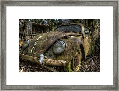 Rusty Vee Dub  Framed Print by Nathan Wright