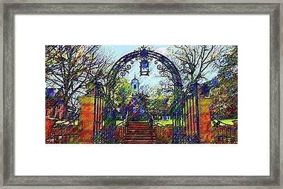 Rutgers University Framed Print