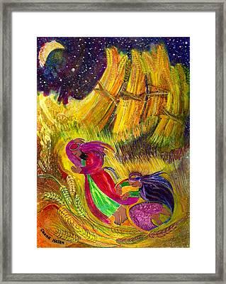 Ruth And Boaz Framed Print by Chana Helen Rosenberg