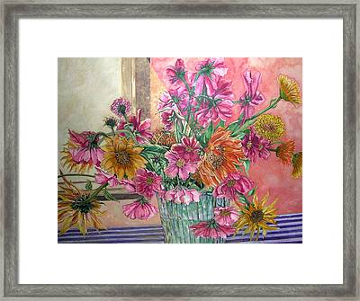 Ruth's Bouquet Framed Print by Caron Sloan Zuger