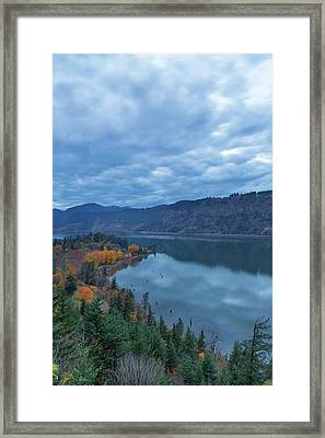 Ruthton Point During Evening Blue Hour Framed Print