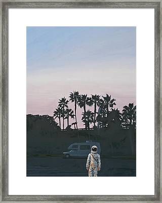 Framed Print featuring the painting Rv Dusk by Scott Listfield