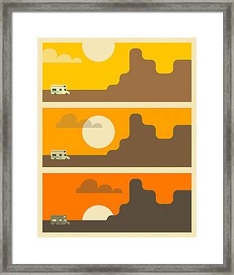 Rv Sunset Framed Print by Jazzberry Blue