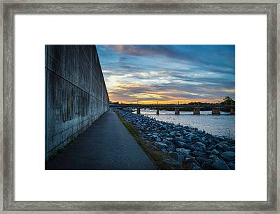 Rva Flood Wall Framed Print