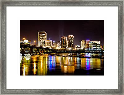 Rva Holiday Skyline 3 Framed Print