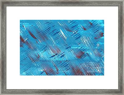 Rwb Blue With Red And White Framed Print