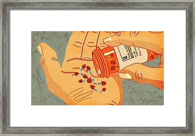 Rx For Life Framed Print by Nicole Wilson