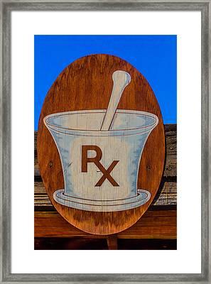 Rx Sign Framed Print
