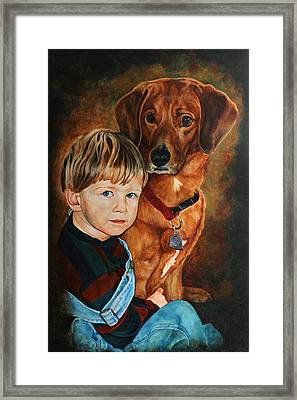 Ryan And Moses Framed Print