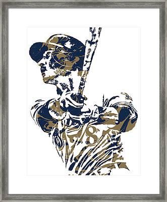 Ryan Braun Milwaukee Brewers Pixel Art 5 Framed Print