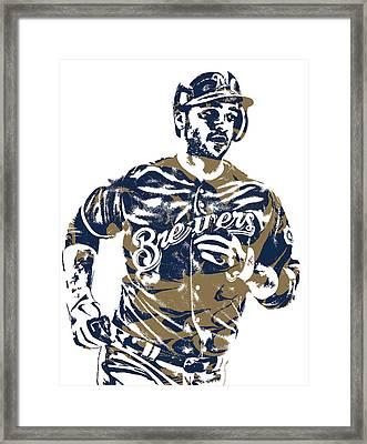 Ryan Braun Milwaukee Brewers Pixel Art 6 Framed Print