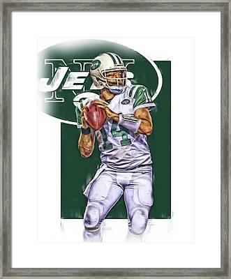 Ryan Fitzpatrick New York Jets Oil Art Framed Print by Joe Hamilton