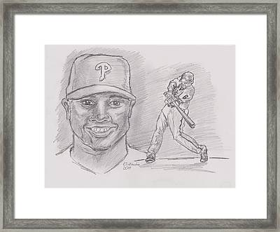 Ryan Howard The Big Piece Framed Print